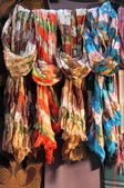 Hanging scarves — Stock Photo