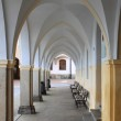 Colonnade in Telc — Stock Photo