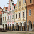 Main square of Telc — Stockfoto #9941460