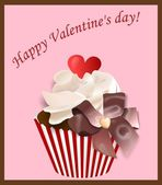 Happy Valentine's Day postcard — Foto Stock