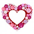 Royalty-Free Stock Vector Image: Buttons frame heart for Valentine\'s Day