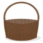 Empty vbrown basket — Stock Vector #8860293
