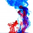 Color liquid in water — Stockfoto