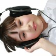 Little Girl Wearing Headphones — Stock Photo #8269176