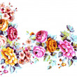 Stock Photo: Flowers frame