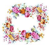 Flowers frame — Stock Photo