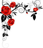 Roses background — Stock Vector