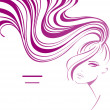 Girl with ponytail - Stock Vector