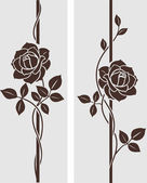 Rose decorative — Vector de stock