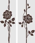 装飾的なバラ — ストックベクタ