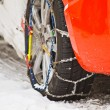 snow chains — Stock Photo