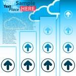 Arrows Infographics Background — Stock Vector #10068253