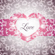 Royalty-Free Stock Vector Image: Love Heart Floral Background Vector Illustration