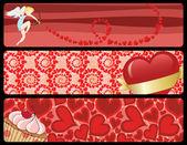 Valentines_banners — Stock vektor