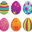 Easter_eggs — Stock Vector