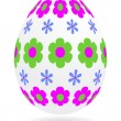 Floral_easter_egg — Stock Vector