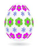 Floral_easter_egg — Stock Vector