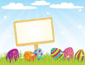 Easter_sign_ — Stock Vector