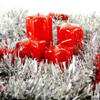 Red Christmas candles and toys - Foto de Stock