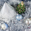 Cristmas tree on New Year toys - Foto de Stock