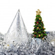 Cristmas tree on New Year toys - Foto Stock