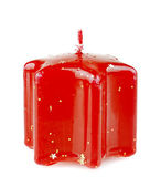Red Christmas candles — Stock Photo