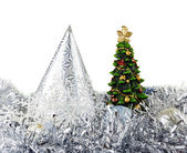 Cristmas tree on New Year toys — Stock Photo
