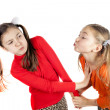 Two little girls played — Stock Photo