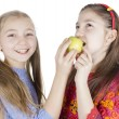 Stock Photo: Two little girls played