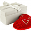 Heart in a box as a gift on Valentine's Day - Foto Stock