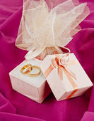 Wedding rings for Valentine's Day — Stock Photo