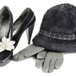Hat and shoes with heels - Stockfoto