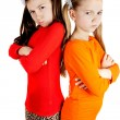 Girls quarreled and insulted each other — Stock Photo