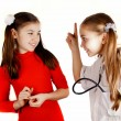 Girl friends played be a doctor — Stock Photo #9065874