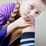 Portrait of a little school girl — Stock Photo #9173941