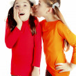 Girl friends played and speak the secrets — Stock Photo #9174012