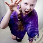 Portrait of a little school girl — Stock Photo #9174029