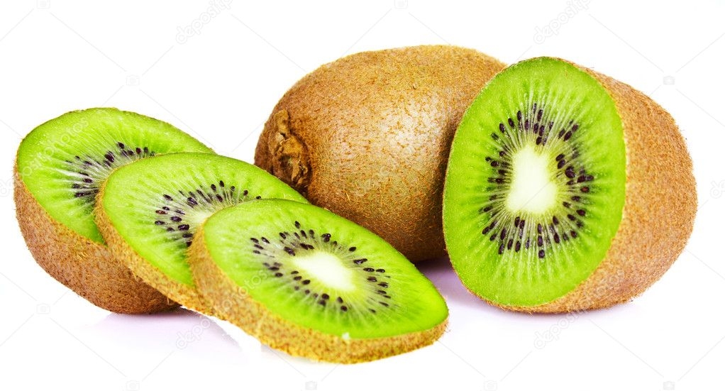 Kiwi slice isolated on white  Stock Photo #9655666