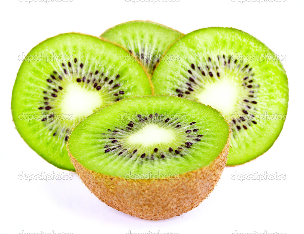 Kiwi slice isolated on white — Stock Photo #9655669