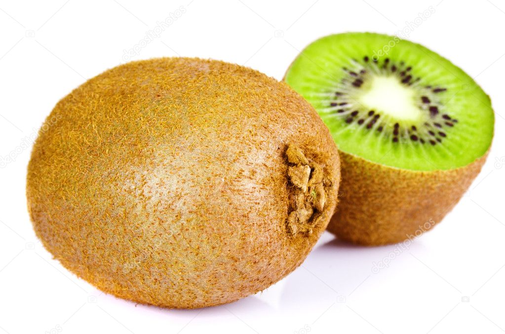Kiwi slice isolated on white — Stock Photo #9655675