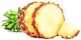 Fresh slice pineapple isolated on white background — Stock Photo
