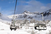 Ski lift in Italy — Stock Photo