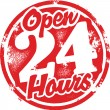 Stock vektor: Open 24 Hours