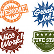 Stock Vector: Awesome Work Stamps