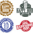 Happy hour grafika — Stock vektor #8086749