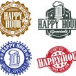 Happy Hour-Grafiken — Stockvektor