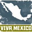 Stock Vector: Vintage VivMexico Sign