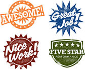 Awesome Work Stamps — Vector de stock