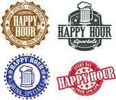 Grafica happy hour — Vettoriale Stock