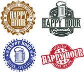Graphiques de l'happy hour — Vecteur